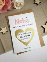 You're going to be a big sister Pregnancy announcement card reveal scratch PA2
