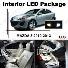White LED Lights Interior Package Kit for Mazda 3 2014 & up ( 6 Pcs )