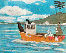 Sam Toft - Dogger, Fisher, Light Vessel Automatic - Ready Framed Canvas 40x50cm