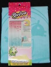 Shopkins Fabric Shower Curtain girls bath 72x72 new