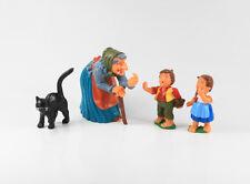 Hänsel und Gretel Hexe + Katze === 4 x Märchen Figuren Fa. Alfred Fischer