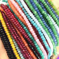 "2x4mm natural rondelle faceted gemstone abacus loose beads 15"" jewelry"