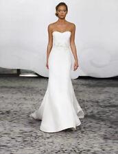 Rivini Wynne Wedding Dress Ivory Beaded Strapless Trumpet Bridal Gown Train 8