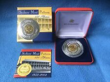 2003 150 Years of the Sydney Mint Pattern Bi-metal Silver Proof $10 Coin (99.9%)