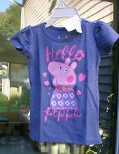 "L@@k  ""PEPPA PIG"" Adorable  BLUE & PINK  GIRL'S SHIRT SIZE 5T  NWT  #BP"