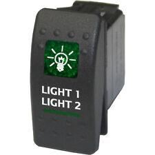 Rocker switch 534G2 12V LIGHT 1 LIGHT 2 on off on green ATV UTV