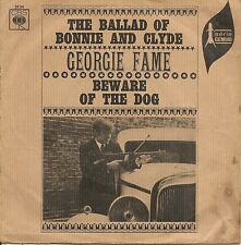 """45 TOURS / 7"""" SINGLE-GEORGIE FAME--BEWARE THE DOG / THE BALLAD OF BONNIE & CLYDE"""