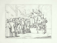 61 x 44 cm Pinelli Incisione Originale Saltinbanco Roma 1836