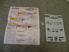 AeroMaster decals 1/72 72-209 Yellow Nose Mustangs 361st FG - partial   E81
