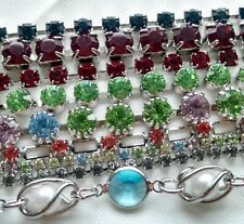"""Rhinestone Crystals Chain Links jewelry making supply 40"""" long 9pc lot NEW"""