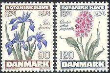 Denmark 1974 Orchid/Iris/Flowers/Plants/Nature/Botanical Gardens 2v set (n42731)