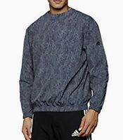 8ba03bfd47c1a ADIDAS Stonewashed Zip Crew Neck Pullover Lightweight Sweatshirt NEW Mens S  M XL