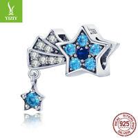 Authentic 925 Sterling Silver Bead Charm Stars'Secret CZ For Girl Bracelet New