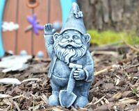 Small Gnome Garden Statue - 4 inch Concrete Yard Lawn Figurine