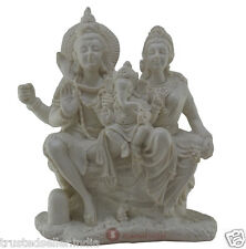 "8.5"" BIG SHIVA PARVATI GANESH FAMILY STATUE HANDMADE MARBLE HOME DECOR BEST GIFT"