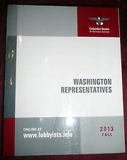 Lobbyists Directory: Washington Representatives 2013