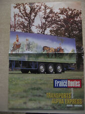 FRANCE ROUTES Poster CAMION :  DAF 95 ATI ALPHA EXPRESS / MERCEDES 1938 S
