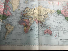 More details for 1900: very large map of the world on the mercator's projection original antique