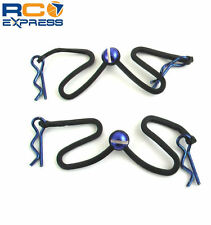 Hot Racing Body Clips w/ Fastened Rubber Leash (Blue) BWP123B06