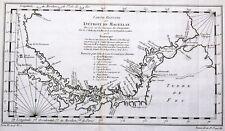 Carte antique, carte reduite du detroit de magellan
