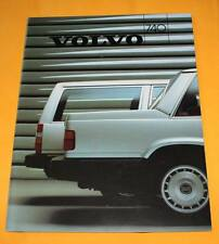 Volvo 740 Limousine Kombi 1986 Prospekt Brochure Depliant Catalogue Prospetto