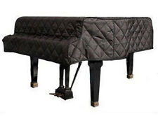 "Black Quilted Grand Piano Cover Fits Grand Pianos From 6'5"" to 6'9"" - Side Slits"