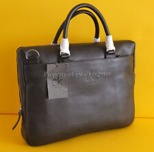 CALVIN KLEIN BROWN LEATHER LAPTOP BAG /BRIEFCASE BNWT RRP£299