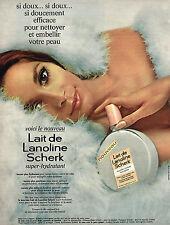 PUBLICITE  1968   SCHERK  lait de lanoline cosmétiques