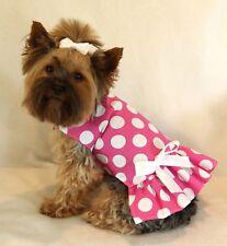 XS Pink White Polka Dots Dog Dress clothes pet PC Dog®
