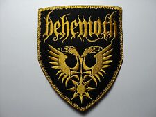 BEHEMOTH YELLOW  COLOR   EMBROIDERED PATCH