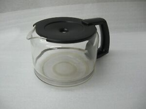 HTF Krups 10-Cup Glass Coffee Carafe w/ Black Lid Replacement