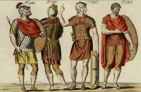 Antiquity Costume Roman Rome Soldier Roman Engraving Watercolour Spallart