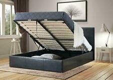 4ft 6 DoubleBlack Prado Italia Bed Ottoman Storage Bed With Memory Foam Mattress