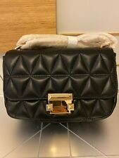 Authentic MK Michael Kors SLOAN SMALL CHAIN Leather Convertible Shoulder Bag