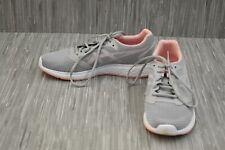 Zapato de correr Asics Patriot 10 1012A117, para mujer Talla 8, Gris/Rosa