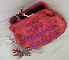Rolfs Kiss lock Change Purse Key Holder Pink Women wallet Coin Purse New
