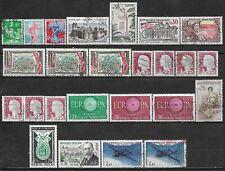 1960 FRANCE LOT OF 25 USED/UNUSED STAMPS Scott CV $6.75