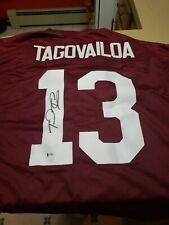 Tua Tagovailoa autographed Alabama jersey Beckett authenticated signed
