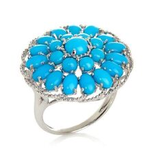 HERITAGE GEMS SLEEPING BEAUTY STERLING SILVER TURQUOISE SIGNATURE RING HSN SZ 9