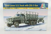 ITALERI 1/35 LEND-LEASE U.S. TRUCK WITH ZIS-3 GUN N°6499
