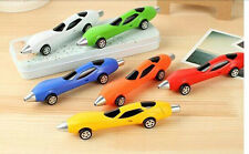 BALL POINT PEN OF SHAPE RACING CAR FOR STUDENTS/ADULTS/TOY FOR KIDS -- SET OF 2