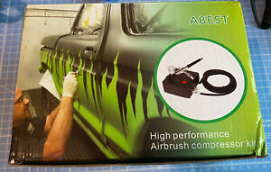 Abest Airbrush Air Brush Compressor For Paint Nail Art - Boxed