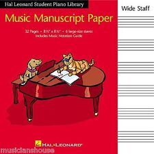 KIDS Childrens Music Manuscript Paper Write Play Paper Staves Music Note Book