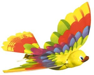 FLYING TIMMY BIRD orinthopter wind-up rubber band powered plane glider retro Toy