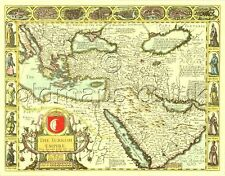 La Turchia ottomana IMPERO TURCO MAPPA John velocità c1626 Full Size replica stampata