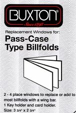 6 Page Plastic Passcase Wallet Insert Business Credit Cards Wing Bar Buxton