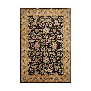 10' x 14' Handmade Wool Oushak Traditional Oriental Area Rug Black 10x14