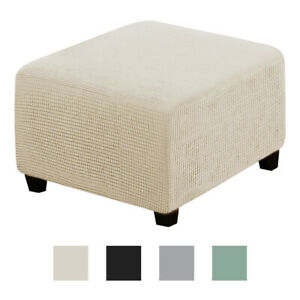 Polyester Ottoman Slipcover Stool Protect Storage Footrest Cover Removable
