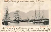 Vintage 1905 South Africa Postcard, Outer Basin Docks, Cape Town KB8
