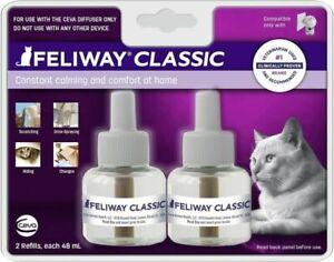 FELWAY CLASSIC DEFFUSER REFILL 48 ML CAT CONSTANT CALMING 2 REFILLS FREE SHIPPIN
